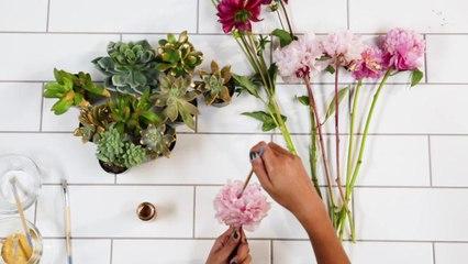 Rustic Floral Tablescape