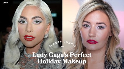 The Surprising Product Used to Create Lady Gaga's Metallic Winged Eye Liner