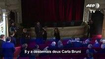 Carla Bruni rejoint Nicolas Sarkozy au musée Grévin