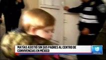 Matías asistió sin sus padres al centro de convivencias en México. #Mexico #Noticias