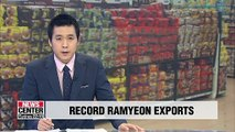 Korean ramyeon exports expected to reach US$ 400 mil. this year