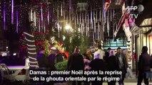 Damas illuminée pour Noël