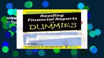 Review  Reading Financial Reports For Dummies - Lita Epstein