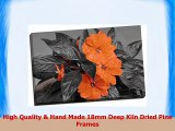 Black  White Orange Floral Canvas Print Picture Wall Art Large 30x20 Inches 762cm x
