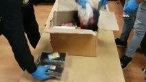 Başakşehir'de pestil görünümü verilen uyuşturucu ele geçirildi...Uyuşturucu operasyonu kamerada