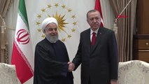 Cumhurbaşkanı Erdoğan, İran Cumhurbaşkanı Ruhani ile Başbaşa Görüştü