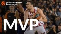 Turkish Airlines EuroLeague Regular Season Round 13 MVP: Nikola Milutinov, Olympiacos Piraeus