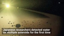 Japanese telescope detects water in a bunch of asteroids