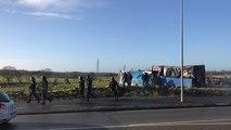 Un camp de gilets jaunes évacué route de Domloup à cesson sevigné