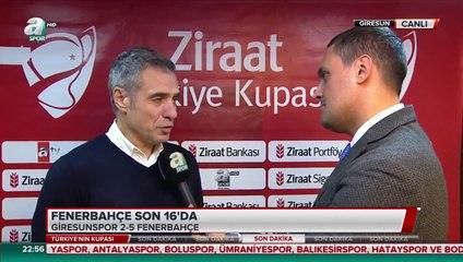 """Ersun Yanal: """"Fenerbahçe'nin zorlukları olur ama Fenerbahçe asla eğilmez, Fenerbahçe asla çömelmez. Fenerbahçe başka bir boyuttur. Fenerbahçe bir spor kulübünden öte çok büyük bir sivil toplum örgütüdür."""""""