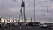 Yavuz Sultan Selim Köprüsü'nde trafik kazası (2) - EDİRNE