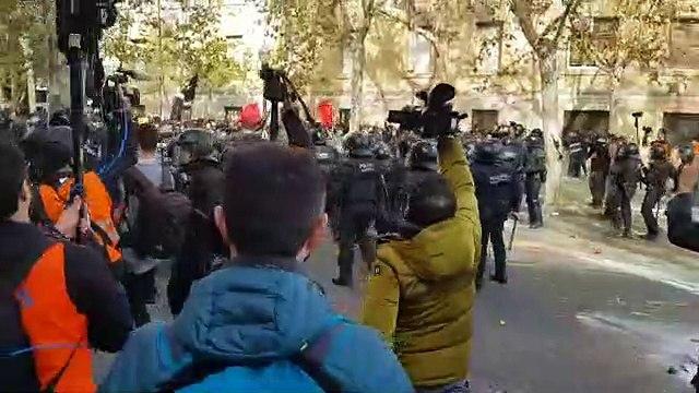 Disturbios junto a Colón