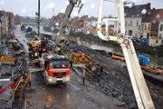200 mètres cubes de béton sous le pont à Ponts, à Tournai