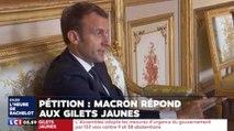 Macron répond lui même à la pétition des gilets jaunes - ZAPPING ACTU DU 21/12/2018