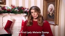 'I Really Don't Care, Do Yule?' Stephen Colbert Welcomes Fake Melania Trump to 'The Late Show'