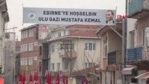Edirne Atatürk'ün Edirne'ye Gelişinin 88'nci Yılı Düzenlenen Törenle Kutlandı