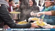 Le 18:18 - La belle histoire : un repas de Noël préparé par des réfugiés syriens pour les plus démunis à Marseille
