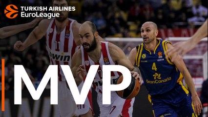 Round 14 MVP: Vassilis Spanoulis, Olympiacos Piraeus