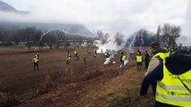Voreppe : affrontements entre gilets jaunes et gendarmes mobiles