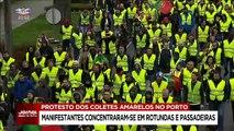 Tentativa dos coletes amarelos de bloquear acessos à cidade do Porto falhou