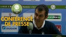 Conférence de presse ESTAC Troyes - Clermont Foot (0-1) : Rui ALMEIDA (ESTAC) - Pascal GASTIEN (CF63) - 2018/2019