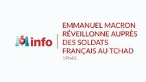 Emmanuel Macron réveillonne auprès des soldats français au Tchad samedi 22 décembre 2018