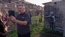 New Banksy artwork brings crowds to Welsh town