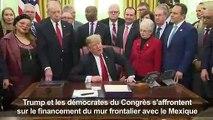 """Shutdown"": Trump fait monter la pression, accuse les démocrates"