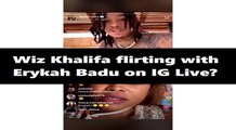 Erykah Badu jumps on Wiz Khalifa's IG Live and the two did some major flirting