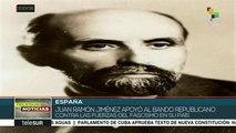 España: conmemoran a poeta andaluz y Premio Nobel Juan Ramón Jiménez