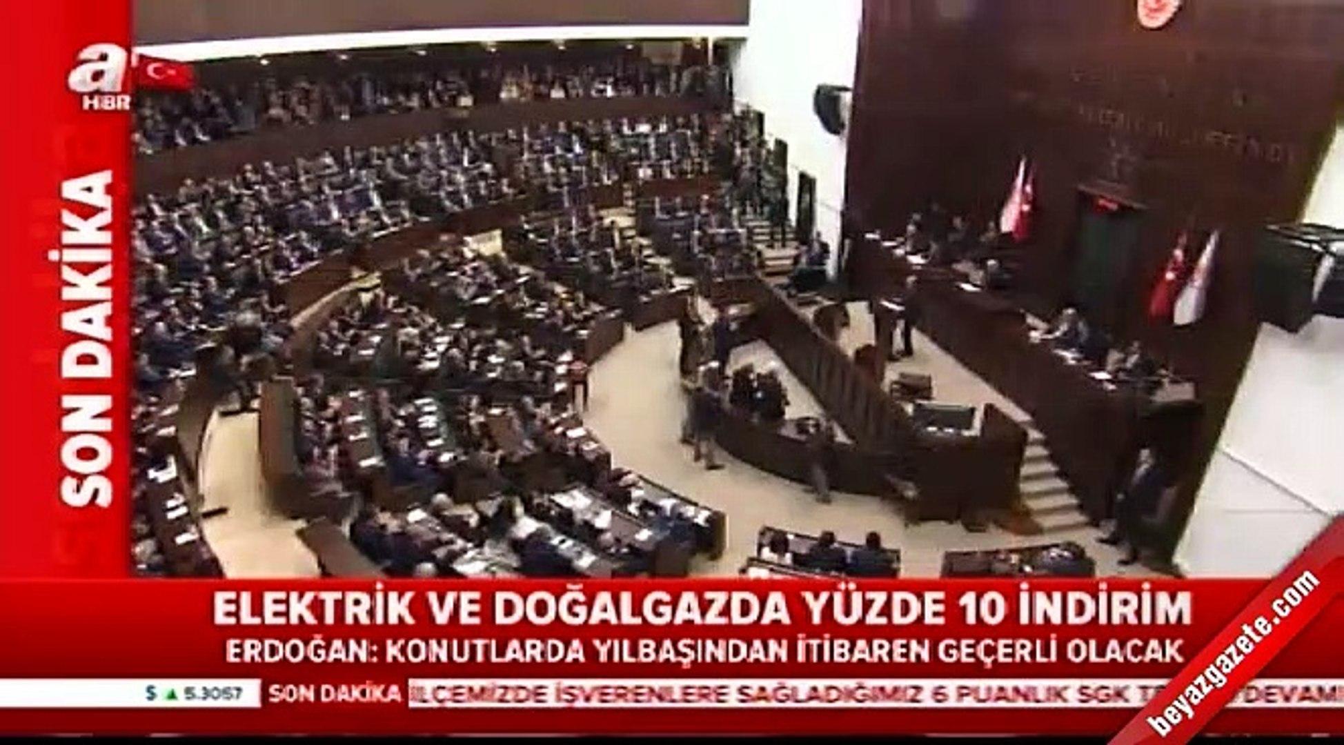 Erdoğan açıkladı: Elektrik ve doğal gazda yüzde 10 indirim