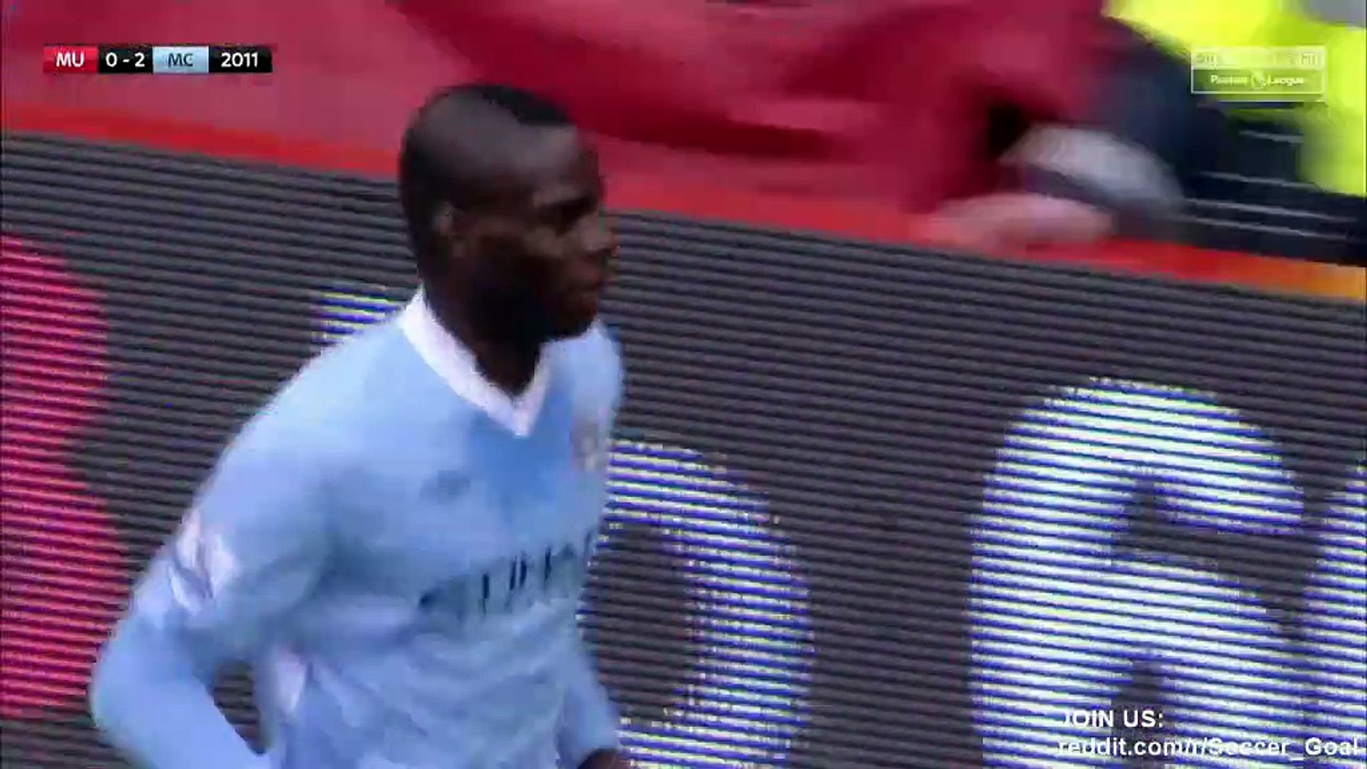 Manchester United 1 - 6 Manchester City Full Highlights - 2011
