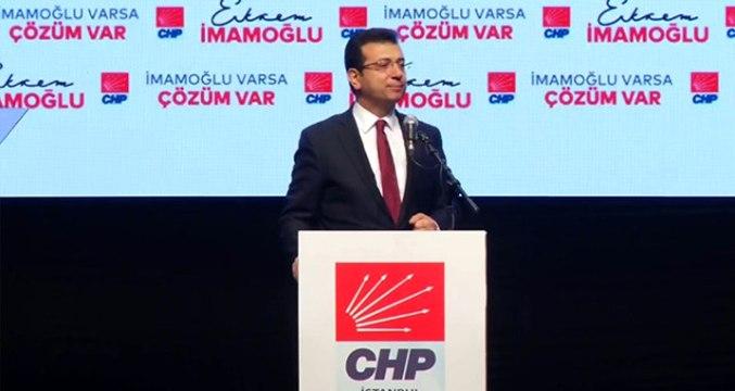 CHP'nin İstanbul Adayı Ekrem İmamoğlu: İstanbul Ankara'dan Yönetilemez