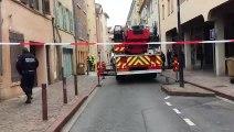 Effondrement du premier étage d'un immeuble à Villefranche sur Saône