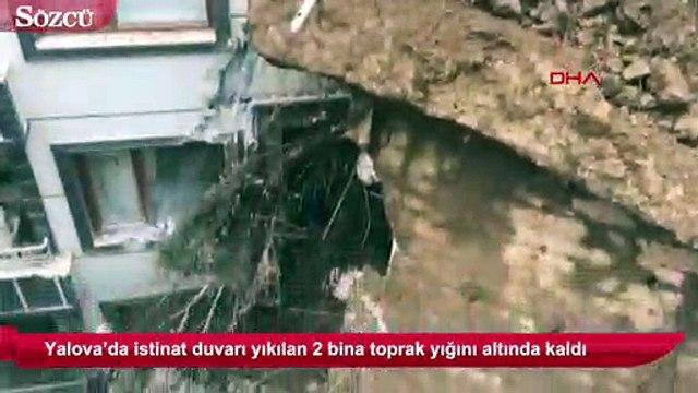 Yalova'da istinat duvarı çöktü