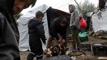 Precarias condiciones de vida para los refugiados en la isla de Lesbos