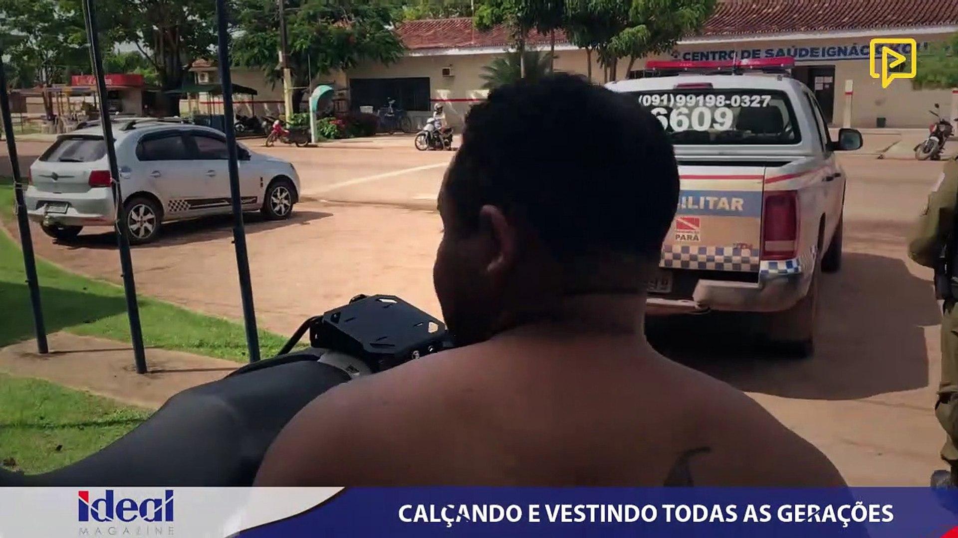A PM prendeu em flagrante Gregório Filho, acusado de porte ilegal de arma de fogo
