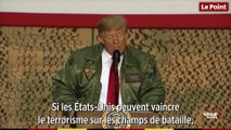 Donald Trump fait une visite-surprise aux soldats américains en Irak