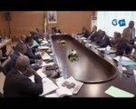 RTG/Reunion statutaire du Sénat au Palais Omar Bongo
