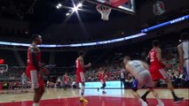 Ray Spalding scores off the great dish by Daryl Macon