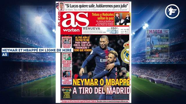 Le Real Madrid fait le forcing pour Neymar et Mbappé, la presse italienne réclame des sanctions fortes sur l'affaire Koulibaly