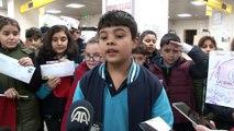 Öğrencilerden sınır hattındaki Mehmetçiğe yeni yıl mektubu - EDİRNE