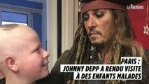 """Johnny Depp rend visite à des enfants malades à Paris : """"C'était un moment très touchant"""""""
