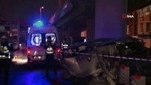 Uygulamadan kaçtığı ileri sürülen otomobil viyadükten düştü: 1'i ağır, 3 yaralı