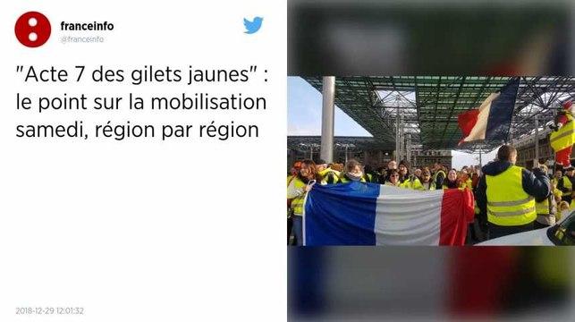 Gilets jaunes. Des manifestations dans toute la France pour l'acte VII