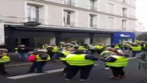 Tear gas fired as Yellow Vests and police clash in French city of Rouen