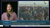 Un muerto y ocho heridos deja represión israelí en Palestina