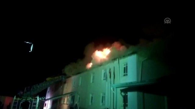 Sarıveliler Devlet Hastanesi çatısında yangın - KARAMAN
