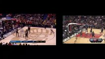 Dennis Smith Jr and Derrick Rose IDENTICAL dunks Side By Side 12-29-18 Dennis Smith Jr dunk of Julius Randle side by side with Derrick Rose dunk on Randolph