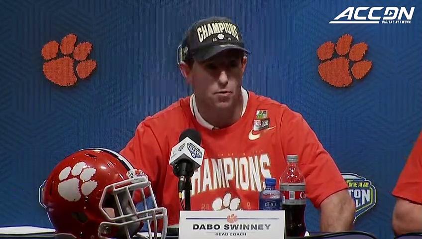 "Clemson Coach Dabo Swinney: ""Just An Amazing Performance, Dominant Performance."""